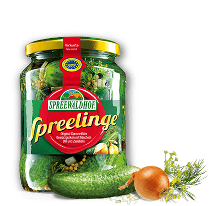 Spreewaldhof Spreelinge  Pickles with Dill and Onions