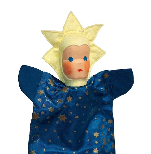 Lotte Sievers Hahn Star Hand carved Glove hand Puppet