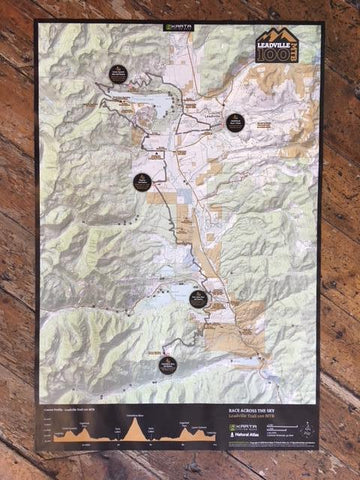 Leadville Trail 100 MTB and Silver Rush 50 MTB Map - Rolled