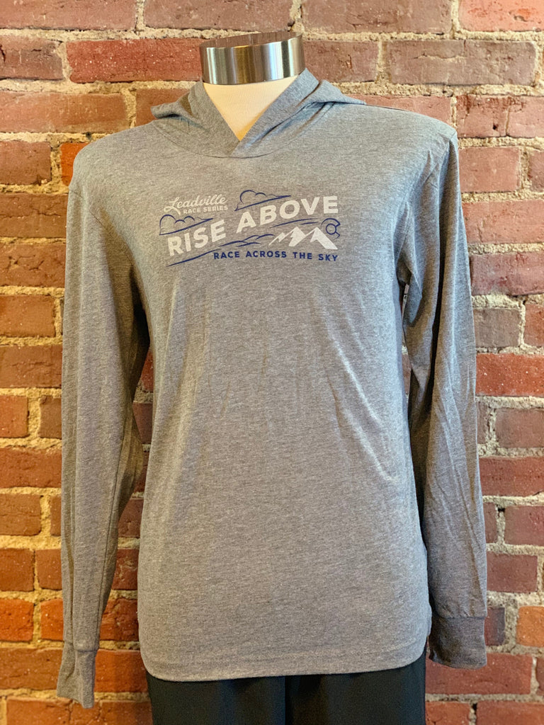 Rise Above Hoodie Tee - Heather