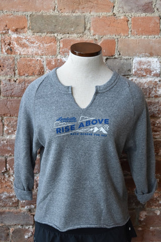 Rise Above Eco-Fleece Sweatshirt - Eco Grey
