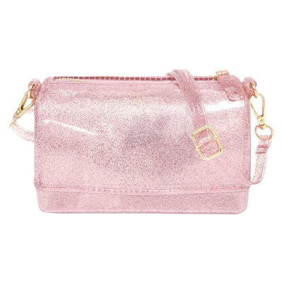 Rose Gold Glitter Jelly Handbag