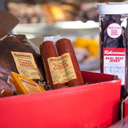 Real beef jerky and smoked meats gift boxes
