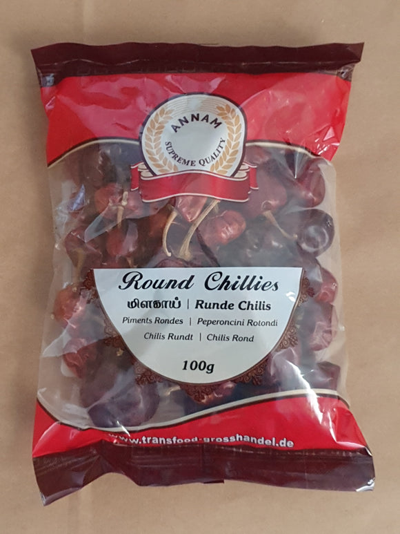 Annam Dried Round Red Chili