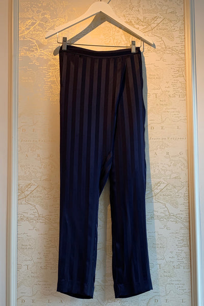Silk Stripe Wrap Pant