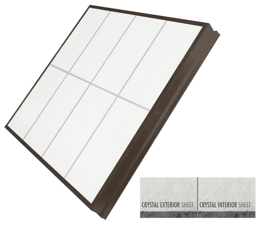 LightBasic™ Quick Ship™ Skylight - Crystal/Crystal - Dark Bronze FInish