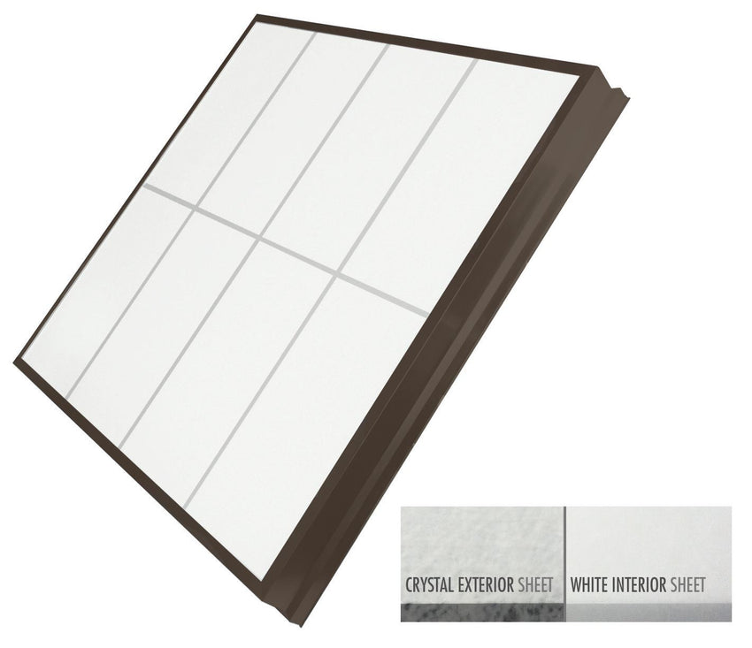 LightBasic™ Quick Ship™ Skylight - Crystal/White - Dark Bronze Finish