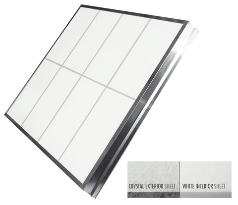 Single Slope Skylights - (Crystal Exterior/White Interior)