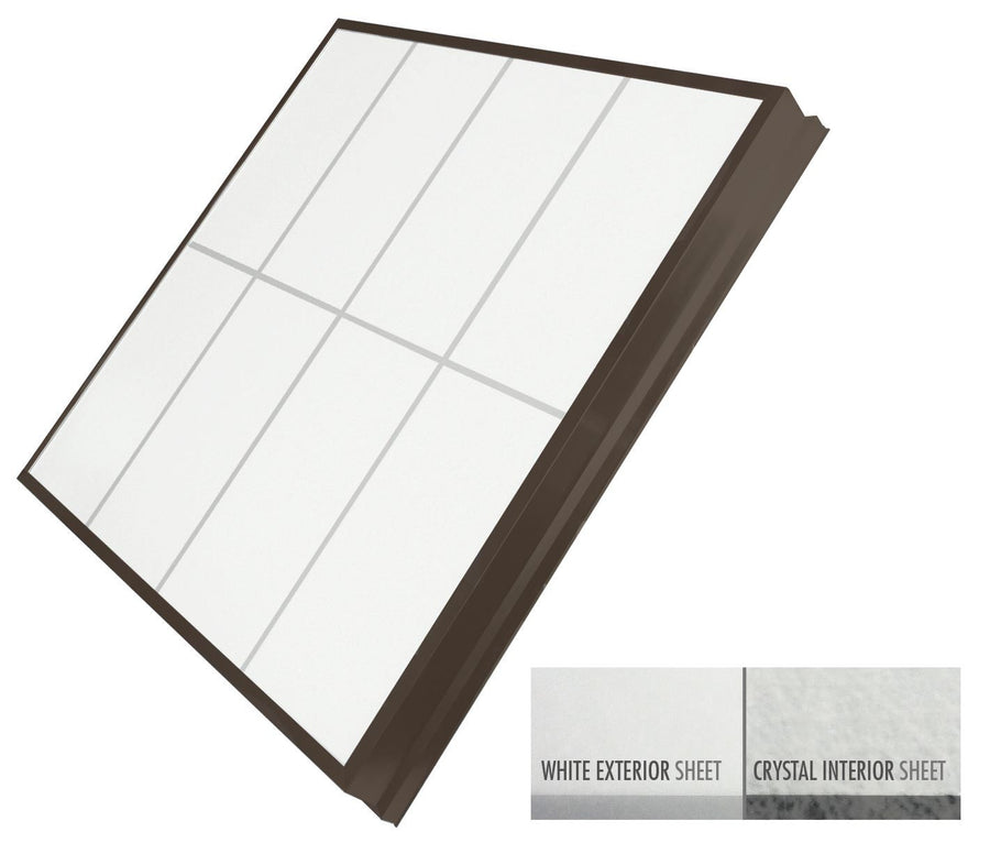 LightBasic™ Quick Ship™ Skylight - White/Crystal - Dark Bronze Finish