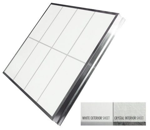 Single Slope Skylights - (White Exterior/Crystal Interior)
