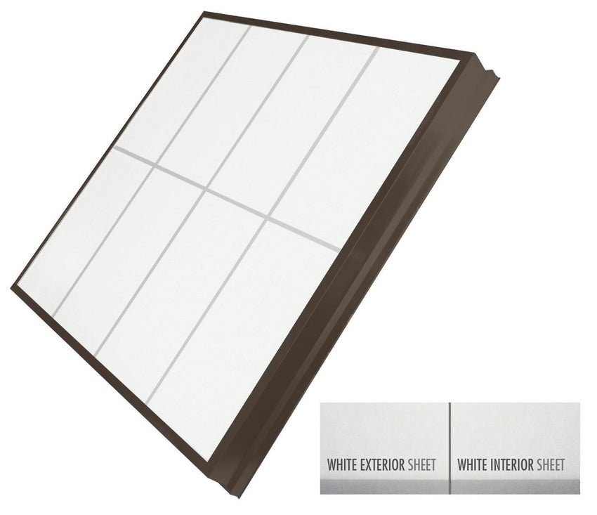 LightBasic™ Quick Ship™ Skylight - White/White - Dark Bronze Finish