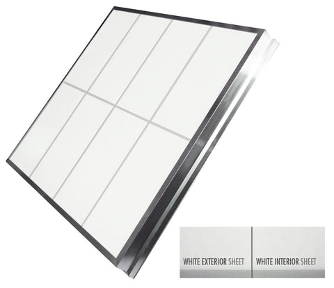 Single Slope Skylights - (White Exterior/White Interior)