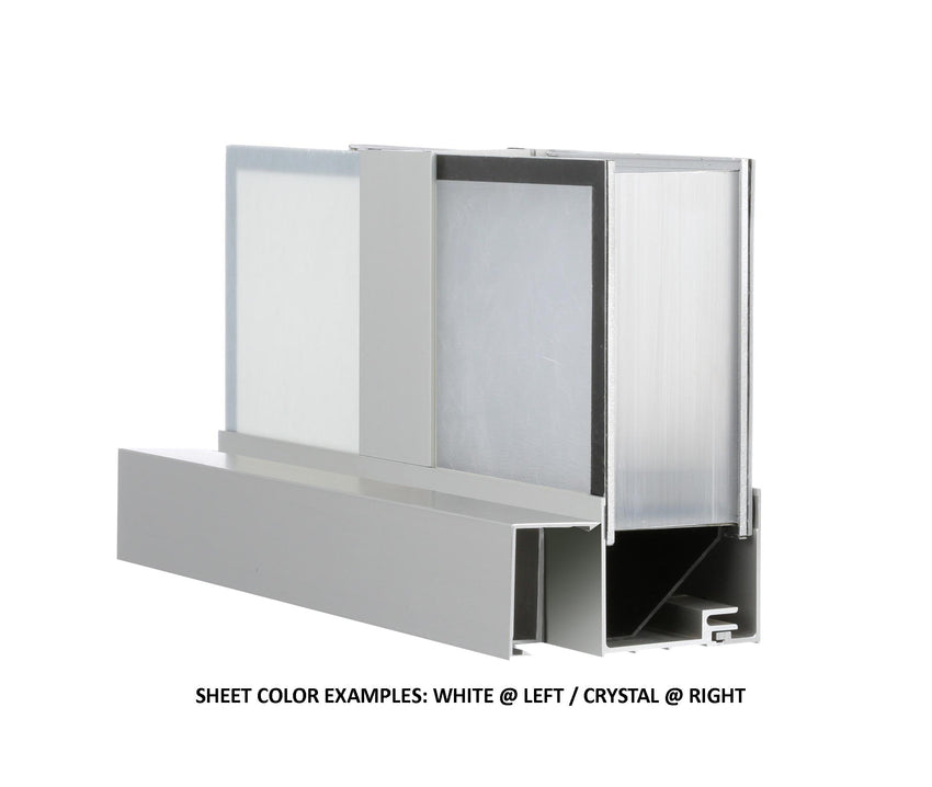 LightBasic™ Pre-assembled Wall Systems - (White Exterior/Crystal Interior)