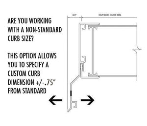 Non-standard Curb Dimension Adjustment Package - (Per Skylight Ordered)