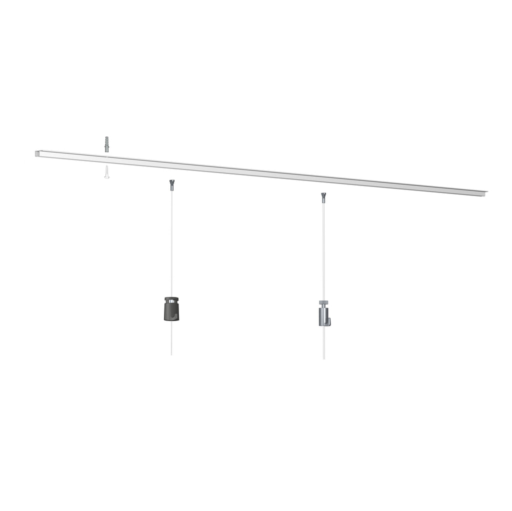 Top Rail Including Standard Fixings - Artiteq Picture Hanging Systems