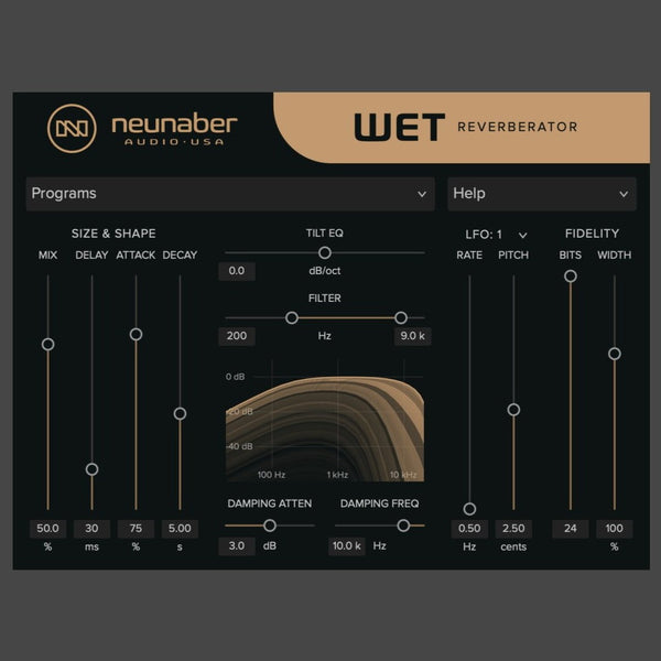 Wet Reverberator Plug-In - Neunaber Audio