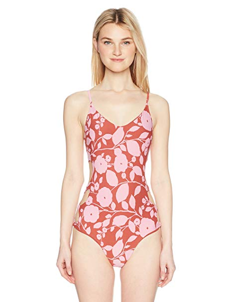 Billabong Womens Rosy Waves One Piece Swimsuit X107NBRO - The Smooth Shop