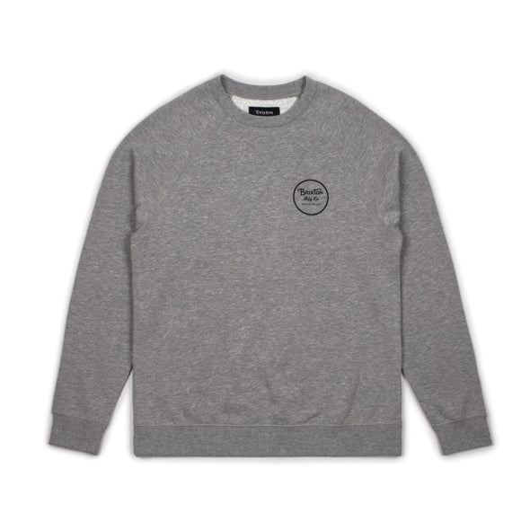 Brixton Mens Wheeler Crew Fleece Sweatshirt 02146 - The Smooth Shop