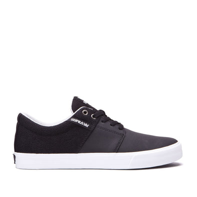 Supra Mens Stacks II Vulc Shoes 08029, Black/Cool Grey-White, 10 - The Smooth Shop