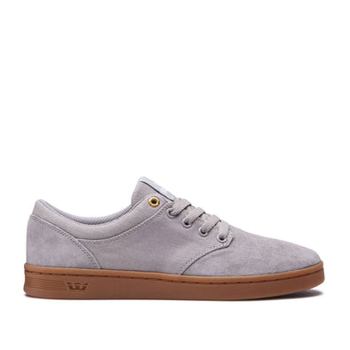 Supra Mens Chino Court Shoes 08058, Lt. Grey/Gum, 9 - The Smooth Shop