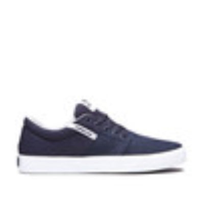 Supra Mens Stacks II Vulc Shoes 08194, Navy-White, 13 - The Smooth Shop