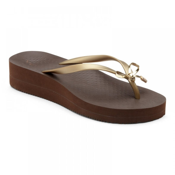 Vionic Womens Bondi Wedge Toe Post Sandals 10001120, Brown Bronze, 11 - The Smooth Shop