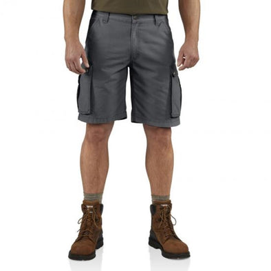 Carhartt Mens Rugged Cargo Short 11 Inch 100277, Gravel, 33 - The Smooth Shop