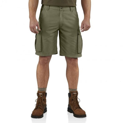 Carhartt Mens Rugged Cargo Short 11 Inch 100277, Army Green, 30 - The Smooth Shop