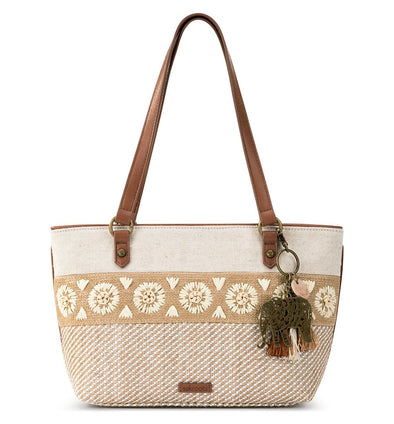 Sakroots Womens Ellis Small Straw Satchel 107739 - The Smooth Shop