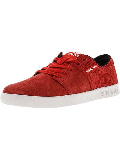 Supra Mens Stacks II Shoes 108183,Red/White,9.5 - The Smooth Shop