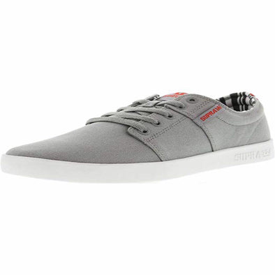 Supra Mens Stacks II Shoes 108184,Grey/White,10 - The Smooth Shop