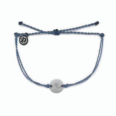Pura Vida Womens Pave Wave Coin Silver Bracelet - The Smooth Shop