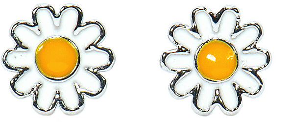 Pura Vida Womens Enamel Sunflower Stud Earrings - The Smooth Shop