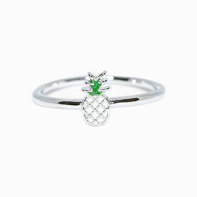 Pura Vida Womens Enamel Pineapple Ring - The Smooth Shop