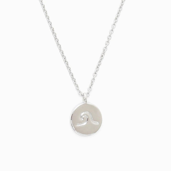 Pura Vida Womens Wave Coin Necklace - The Smooth Shop