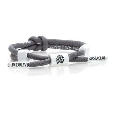 Rastaclat Mens Positive Vibes Knotted Grey Bracelet - The Smooth Shop