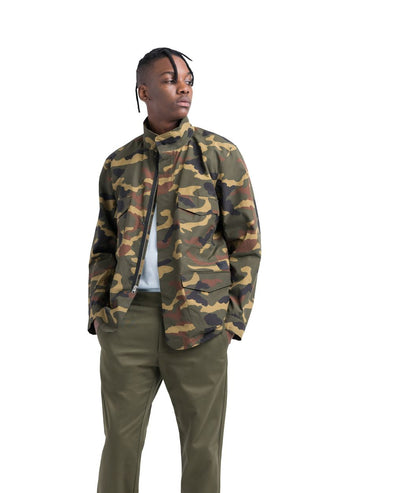 Herschel Mens Field Jacket, Woodland Camo, L - The Smooth Shop