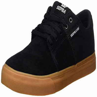 Supra Kids Stacks II Vulc Shoes 158193,Black/Gum,2 - The Smooth Shop