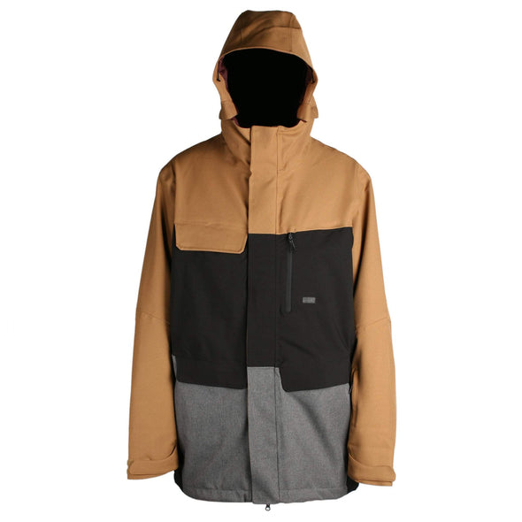 Ride Mens Georgetown Jacket Shell,  Camel/Black/Charcoal Melange , M - The Smooth Shop