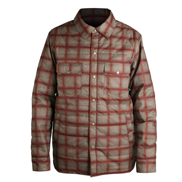 Ride Mens Riding Flannel,  Khaki , L - The Smooth Shop