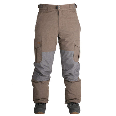 Ride Mens Phinney Pant Shell,  Brown Melange , M - The Smooth Shop