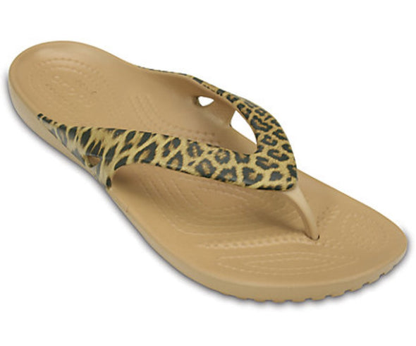 Crocs Womens Kadee II Leopard Print Sandals 202559 - The Smooth Shop