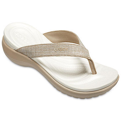 Crocs Womens Capri V Shimmer Flip Sandals 205143 - The Smooth Shop