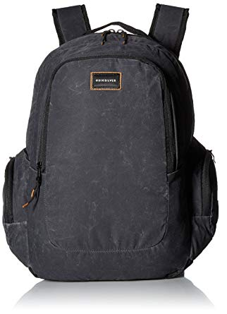 Quiksilver Boys Schoolie Medium Backpack EQYBP03391,Oldy Black,OFA - The Smooth Shop