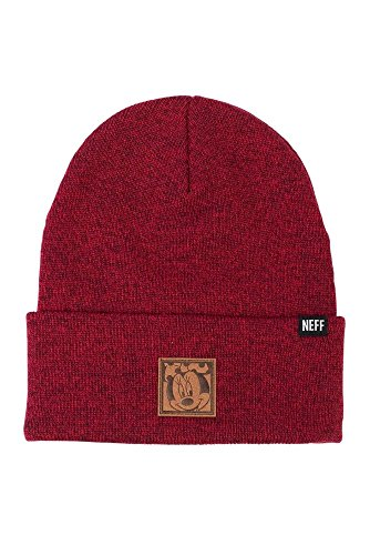 Neff Womens Minnie Lawrence Beanie R16FS03LL,Maroon,OFA - The Smooth Shop