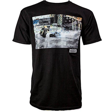 Hoonigan Mens Gymkhana 8  Photo Short Sleeve T-Shirt HM210G8PH,Black,L - The Smooth Shop
