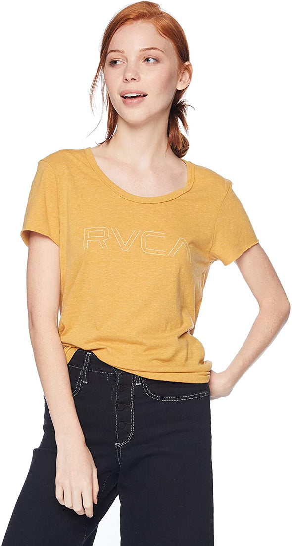 RVCA Womens Pinner Scoop Neck T-Shirt W417QRRV - The Smooth Shop