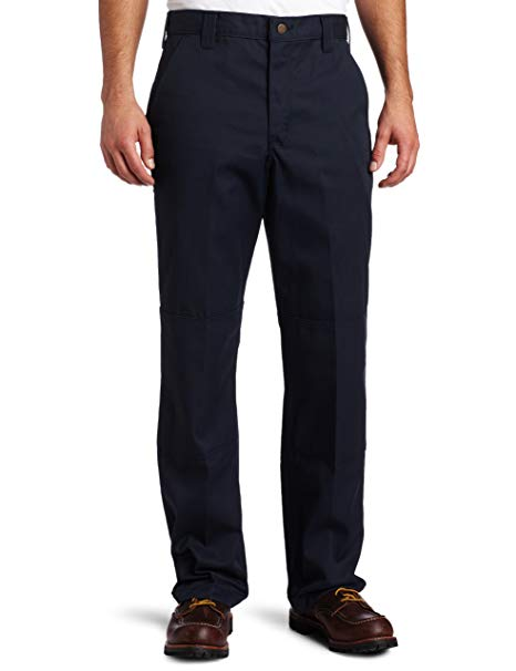 Carhartt Mens Twill Double Front Work Pant B316, Navy, 36x34 - The Smooth Shop