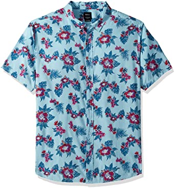 RVCA Mens Jeff McMillan Floral Button Up Shirt M501PRMF - The Smooth Shop
