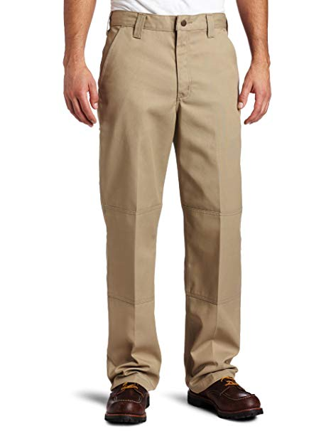 Carhartt Mens Twill Double Front Work Pant B316, Khaki, 34x30 - The Smooth Shop